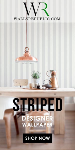 Walls Republic Striped Residential Wallpaper