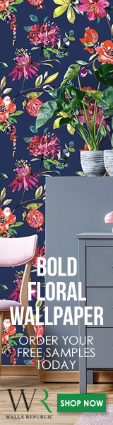 Bold Floral Wallpaper. Free Samples.