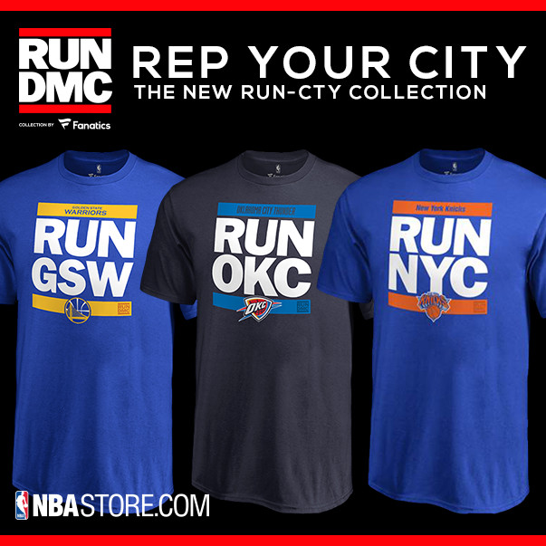 "Shop for exclusive RUN DMC ""RUN CTY"" NBA Fan Gear at NBAStore.com"