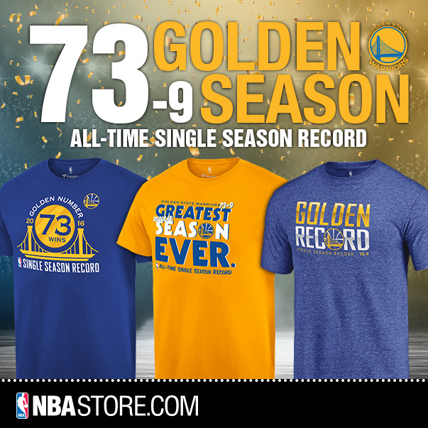 Golden State Warriors 73 Wins Gear