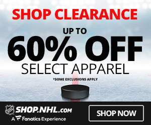 25% off orders over $50 at Shop.NHL.com with code SCORE25