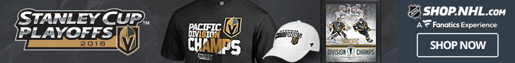 Vegas Golden Knights 2018 Division Champs Gear