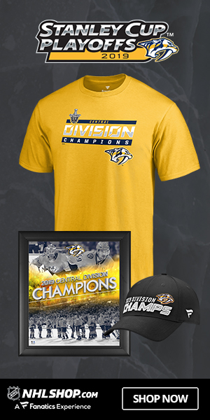 Nashville Predators 2019 Central Division Champs Gear