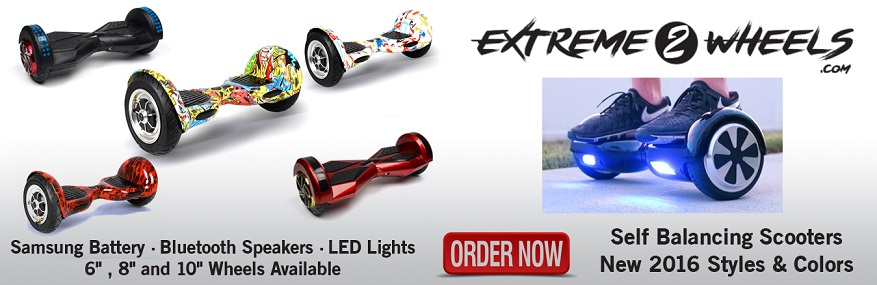 Extreme Wheels Website for Hoverboards