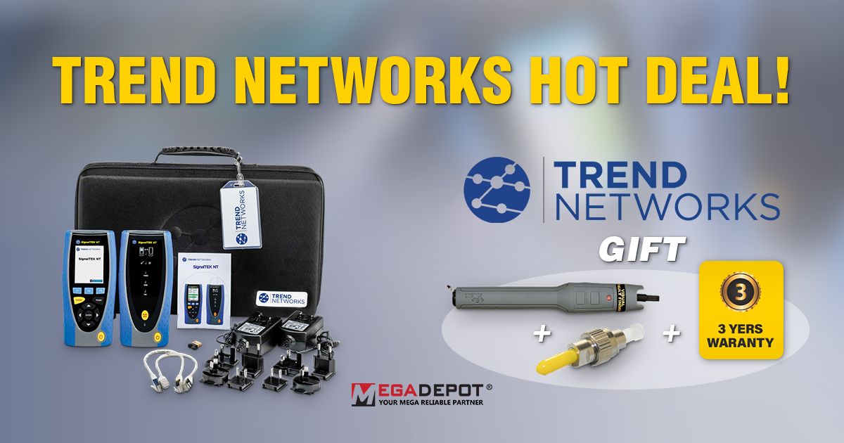Get a FREE GIFT with Your Purchase of a TREND Networks SignalTEK NT Network Transmission Tester!