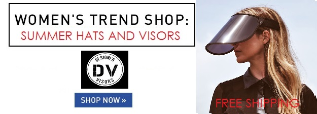 Designer Visors Summer Hat Trends