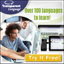 Over 100 languages to learn with Transparent Language.
