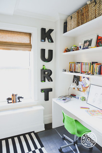 Having your name in big letters never goes out of style. Designed by Homepolish!