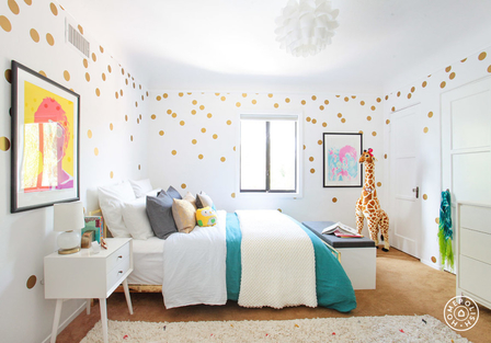 Single color decals are both chic & fun. Designed by Homepolish!
