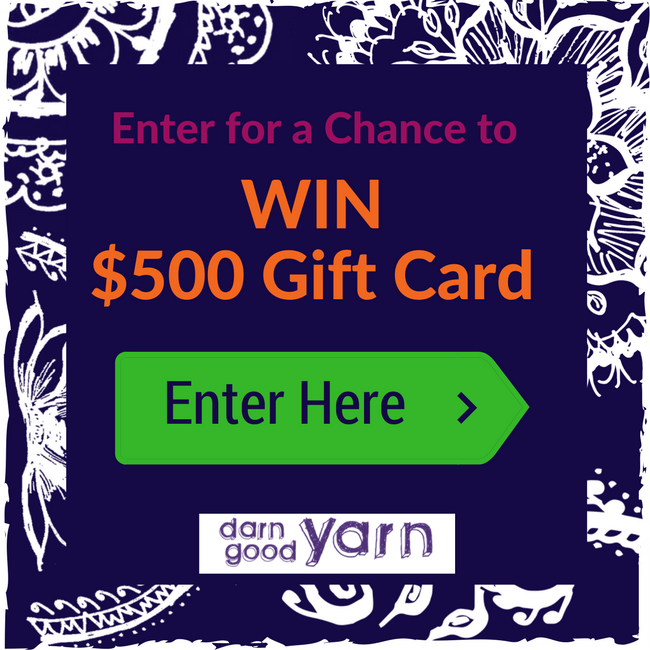 $500 Darn Good Yarn Gift Card Giveaway