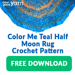 COLOR ME TEAL HALF-MOON RUG CROCHET PATTERN