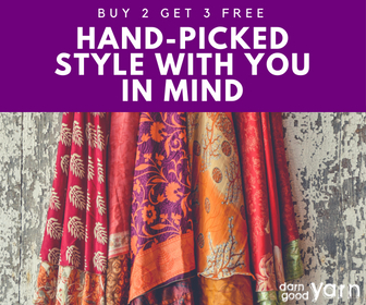 Sari Silk Wrap Skirts from Darn Good Yarn