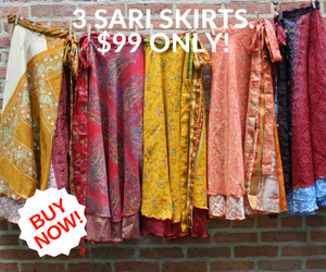 3 Pack of Sari Skirts for $99