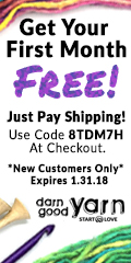 Get Your First Month of Yarn Club Free with Code 8TDM7H