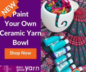 Paint Your Own Ceramic Yarn Bowl