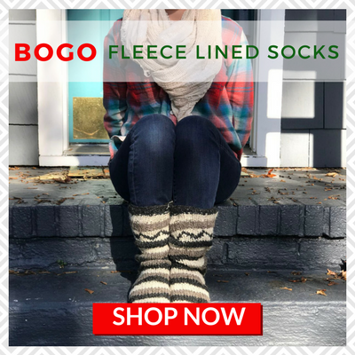 BOGO Fleece Lined Wool Socks