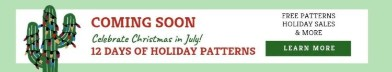 12 DAYS OF HOLIDAY PATTERNS