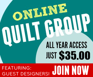 Quilt-Group All year access to the online quilt group. Guest Designers.