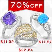 Silver Rings - 70% Off