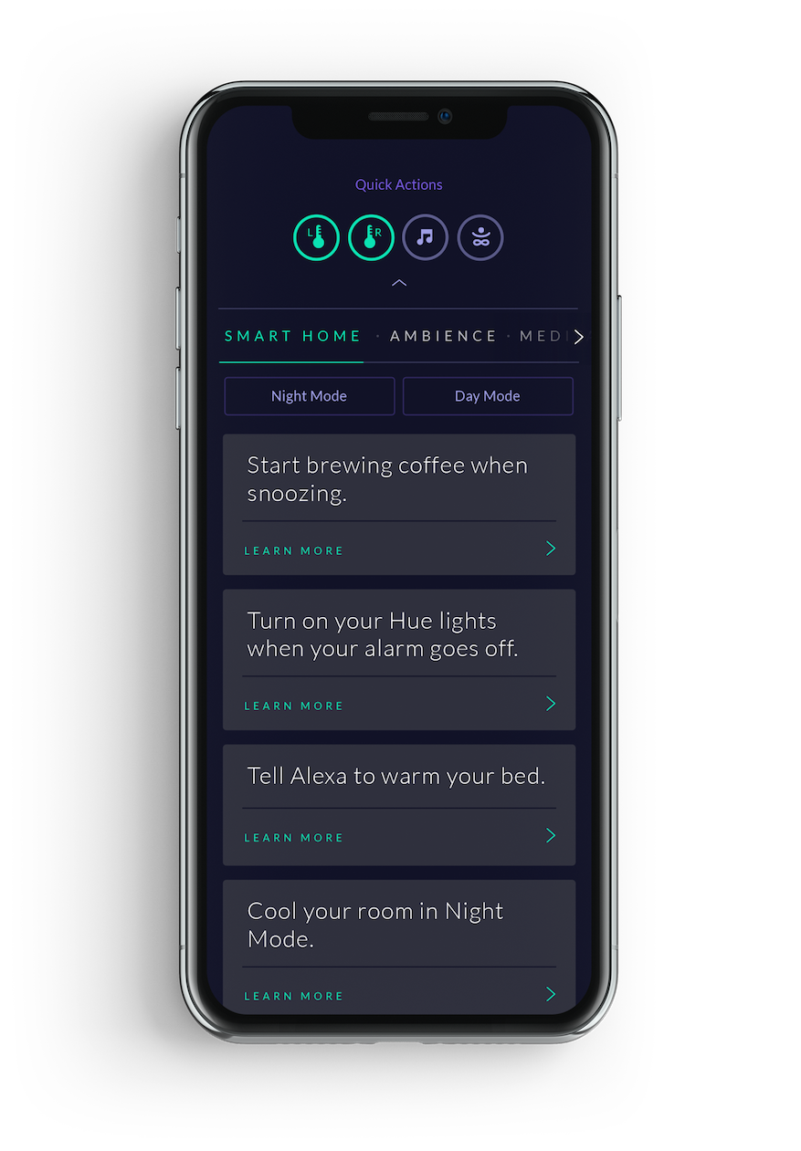 Eight Sleep - IFTTT Smart Home Features - App