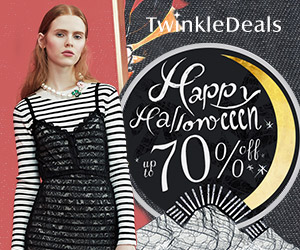 Get inspired to be the spotlight on the Halloween party with twinkledeals! Enjoy free shipping and up to 70% OFF! Find great deals now! (Ends: Oct.30, 2016)