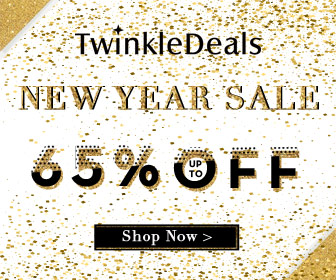 "Give your wardrobe a shake up in Twinkledeals new year sale! Enjoy 13% OFF with coupon ""NEWYEAR"". Shop now!"