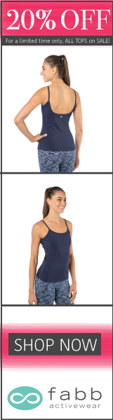 20% OFF All FABB Activewear Tops