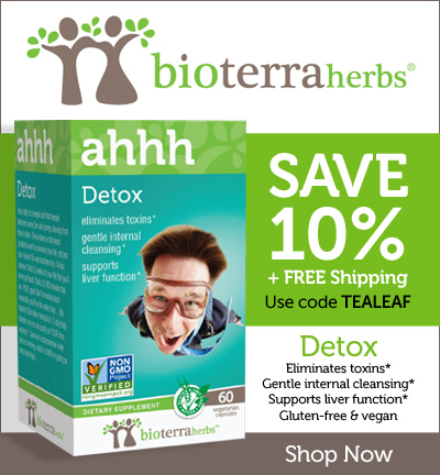 Save 10% + FREE Shipping! Use coupon code TEALEAF through 6/30/16 at BioTerraHerbs.com