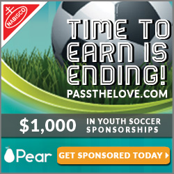 Get up to $1000 in sponsorship money for Youth Soccer from Nabisco Multipacks