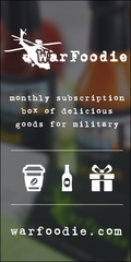 Monthly subscription box of delicious goods for military, expats, and peace corps