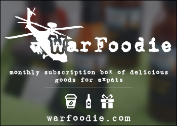 Monthly subscription box of delicious goods for military, expats, and peace corps. War Foodie.