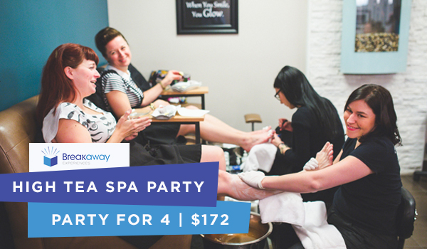 Breakaway Experiences High Tea Spa Party and Manicure for 4 - $172