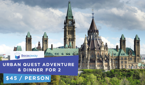 Breakaway Experiences Urban Quest Adventure & Dinner for 2 - $90