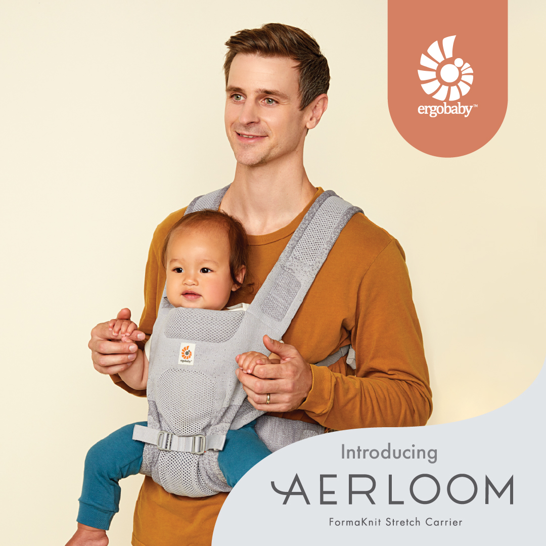 Ergobaby Aerloom is here! Our limited edition carrier with a sleek, trendy and sustainable knit weave.
