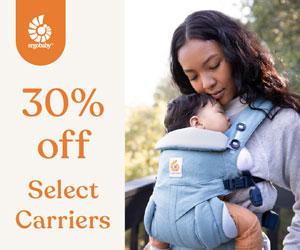 30% off Select Carriers (Omni 360: CAM - Classic Weave, Omni 360: Herritage Blue, Aura Wrap: Grey Stripes)