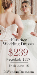 PLUS SIZE WEDDING DRESSES $239