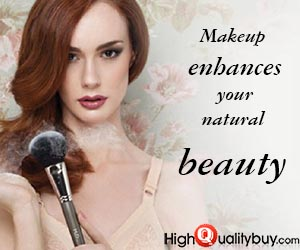 Makeup enhances your natural beauty.