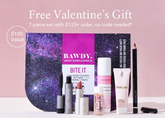 Free $100 gift with $125 purchase. February 9 - February 14