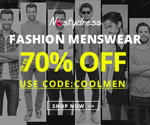 "Gentlemen! Be dapper and clever at the same time with nastydress! Enjoy free shipping and up to 70% OFF with coupon ""COOLMEN""! Shop your favorite now!"