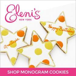 Shop Monogram Cookies at Eleni's