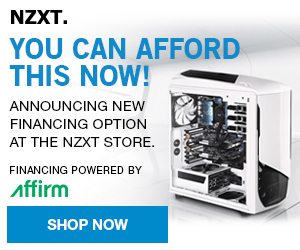 Order from NZXT Today - pay monthly over 12 Months!