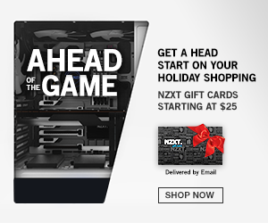 NZXT Gift Cards - the Perfect Holiday Gift!