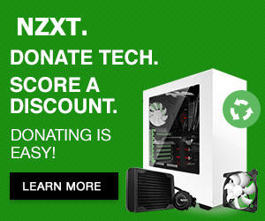 Donate Tech - Score a Discount - Save the Planet with NZXT and Human I-T
