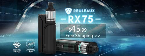 Authentic Wismec Reuleaux RX75 TC VW Kit - 3FVAPE