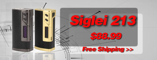 AUTHENTIC SIGELEI 213W TC BOX MOD - 3FVAPE