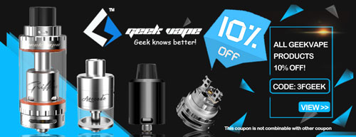 3FVAPE All Geekvape Products 10% Off!
