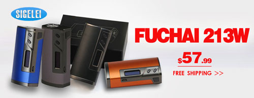 Authentic Sigelei Fuchai 213W Box Mod - 3FVAPE