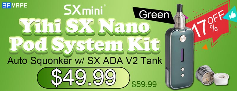 Authentic SXmini SX Nano Pod Kit Auto Squonker Kit Green Flash Sale - Authentic SXmini SX Nano Pod Kit Auto Squonker Kit-Green Flash Sale
