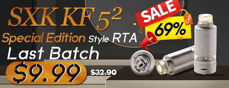 3FVape - SXK KF 5² Style RTA Only $9.99