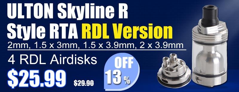 3FVape - ULTON Skyline R Style RTA RDL Flash Sale